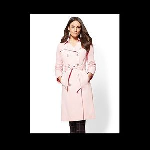 NY & CO NWT XS LIGHT PINK TRENCH COAT
